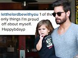 27.APRIL.2015 - CALABASAS - USA\\n\\n**EXCLUSIVE ALL ROUND PICTURES**\\n\\n*STRICTLY AVAILABLE FOR UK AND GERMANY USE ONLY*\\n\\nSCOTT DISICK AND KOURTNEY KARDASHIAN TREATED THEIR CHILDREN MASON AND PENELOPE TO A FAMILY DINNER AT THE ROSTI CAFE IN CALABASAS. \\n\\nBYLINE MUST READ : XPOSUREPHOTOS.COM\\n\\n***UK CLIENTS - PICTURES CONTAINING CHILDREN PLEASE PIXELATE FACE PRIOR TO PUBLICATION ***\\n*UK CLIENTS MUST CALL PRIOR TO TV OR ONLINE USAGE PLEASE TELEPHONE 0208 344 2007*\\n\\n