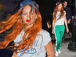 Rihanna arrives at a recording studio in NYC.  Pictured: Rihanna  Ref: SPL1073235  070715   Picture by:  TJDH Imagez / Splash News  Splash News and Pictures Los Angeles: 310-821-2666 New York: 212-619-2666 London: 870-934-2666 photodesk@splashnews.com
