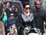 Anaheim, CA - Kim and Kourtney Kardashian brought their kids to Disneyland on Wednesday afternoon to celebrate Penelope Disick's 3rd birthday. The reality starlets were also accompanied by grandma Kris Jenner, Corey Gamble and their own private security guard. Noticeably absent from his daughter's birthday party was Penelope's father Scott Disick, who has been reportedly pushed out of the pack after reports that Kourtney and Scott are finally done. \nAKM-GSI     July 8, 2015\nTo License These Photos, Please Contact :\nSteve Ginsburg\n(310) 505-8447\n(323) 423-9397\nsteve@akmgsi.com\nsales@akmgsi.com\nor\nMaria Buda\n(917) 242-1505\nmbuda@akmgsi.com\nginsburgspalyinc@gmail.com