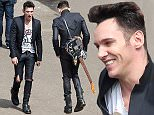 Jonathan Rhys Meyers, Dougray Scott & Daniel Huttlestone on set of ìLondon Townî in London. When originally announced, Jonathan was set to play the father of a young boy trying to find his estranged mother set to the backdrop of the emerging punk scene. Now it appears, Jonathan may actually be playing iconic punk hero Joe Strummer of the band The Clash. This hasnít yet been 100% confirmed but he sure fits the bill !\nCredit Bylie: Eagle Eyes-Exclusive\n