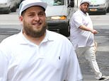 July  8, 2015: Jonah Hill is seen returning to his apartment after getting some lunch to go today in New York City.\nMandatory Credit: INFphoto.com Ref.: infusny-284