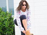 Mandatory Credit: Photo by Startraks Photo/REX Shutterstock (4898010a)  Minnie Driver  Minnie Driver out and about, Los Angeles, America - 07 Jul 2015  Minnie Driver Leaving a Workout Class