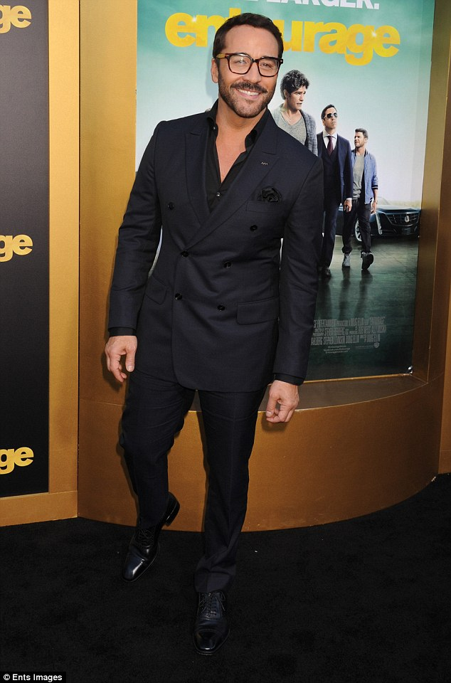 Gag: The 46-year-old said Entourage's Ari Gold 'shoved his tongue all the way down to my heart' on during first rehearsal