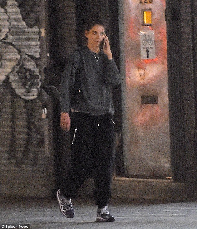 Street style: The actress appeared to be ready to hit the gym
