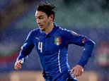 SOFIA, BULGARIA - MARCH 28:  Matteo Darmian of Italy during the Euro 2016 Qualifier match between Bulgaria and Italy at Vasil Levski National Stadium on March 28, 2015 in Sofia, Bulgaria.  (Photo by Claudio Villa/Getty Images)