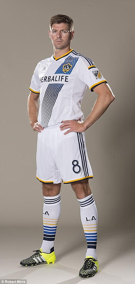La Galaxy released official pictures of Gerrard on Tuesday