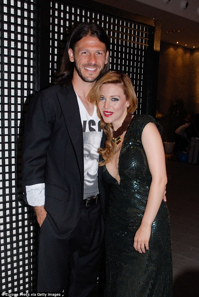 Martin Demichelis, seen here in Marbella, in April 2013, is to marry his long-time partnerEvangelina Anderson