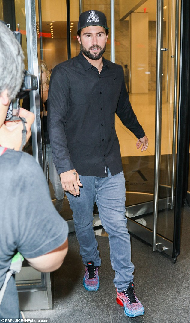 Kadashian who? Brody Jenner has revealed he doesn't have much to do with the 'klan' in an interview with Yahoo! Style - he is pictured here on Tuesday leaving NBC Today