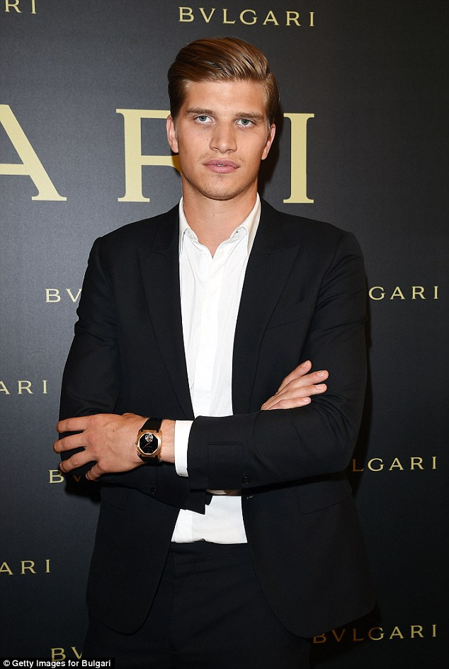 Fancy seeing you here! Rosie Huntington-Whiteley's handsome model brother Toby added some masculinity to the Bulgari soiree
