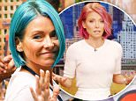 Kelly Ripa looks radiant in her new blue hair in New York City\n\nPictured: Kelly Ripa\nRef: SPL1074457  090715  \nPicture by: Felipe Ramales / Splash News\n\nSplash News and Pictures\nLos Angeles: 310-821-2666\nNew York: 212-619-2666\nLondon: 870-934-2666\nphotodesk@splashnews.com\n