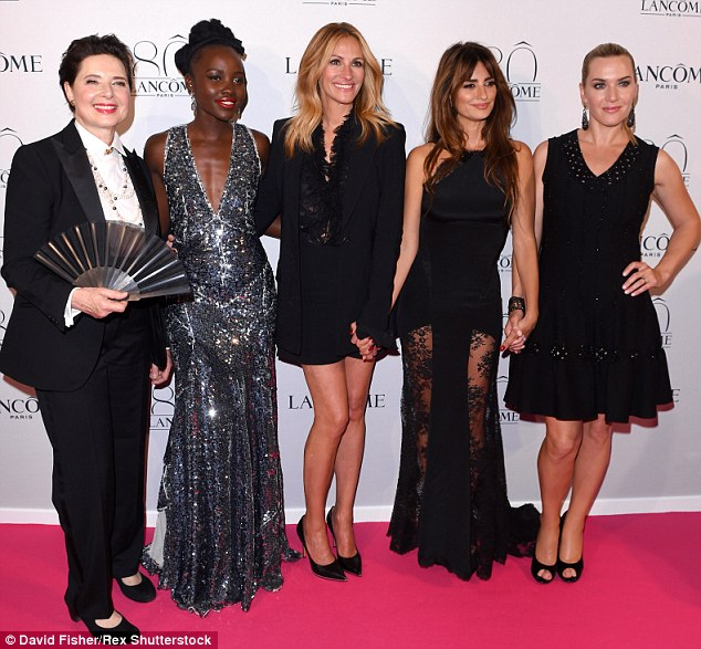A-list ladies: The party was attended by a host of stars, includiongIsabella Rossellini, Lupita Nyong'o, Julia Roberts, Penelope Cruz and Kate Winslet