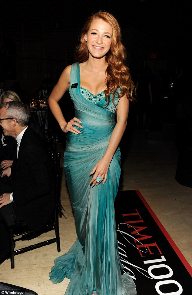 Terrific in titian: The last time she flirted with a colour change as back in 2011 for the film Hick - she went red - she is pictured her at the Time 100 Awards in New York in April that year