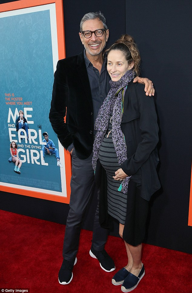 Thrilled to be a daddy:The actor took to Facebook on Tuesday to break the news. 'We're so excited to share the wonderful news of the birth of our son, Charlie Ocean Goldblum, born on the 4th of July. Independence Day,' the movie star wrote