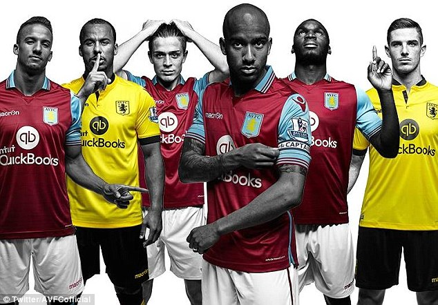 Aston Villa on Tuesday unveiled their brand new kits for the upcoming 2015-16 season
