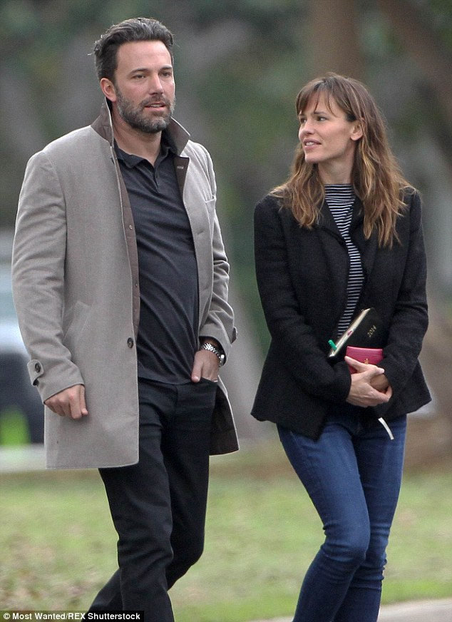 Shock news: Affleck and Garner - pictured in December 2014 - announced their separation on June 30 after 10 years of marriage