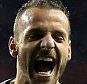 LONDON, ENGLAND - FEBRUARY 19: Roberto Soldado of Tottenham Hotspur celebrates scoring the opening goal during the UEFA Europa League Round of 32 first leg match between Tottenham Hotspur FC and ACF Fiorentina at White Hart Lane on February 19, 2015 in London, United Kingdom. (Photo by Marc Atkins/Mark Leech Sports Photography/Getty Images)