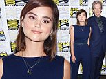 "Actors Jenna Coleman, from left, Peter Capaldi, and Michelle Gomez attend the ""Doctor Who"" press line on day 1 of Comic-Con International on Thursday, July 9, 2015, in San Diego, Calif. (Photo by Tonya Wise/Invision/AP)"