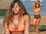 Pascal Craymer ex TOWIE star doing yoga on the beach at Leigh on Sea in Essex. Featuring: Pascal Craymer Where: Leigh On Sea, United Kingdom When: 09 Jul 2015 Credit: WENN.com