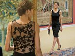 President of Peru Ollanta Humala gala dinner honouring Kings of Spain Letizia and Felipe at Palacio del Pardo in Madrid.  Pictured: Queen Letizia of Spain Ref: SPL1073717  080715   Picture by: Splash  Splash News and Pictures Los Angeles: 310-821-2666 New York: 212-619-2666 London: 870-934-2666 photodesk@splashnews.com