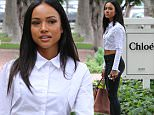 Karrueche Tran arriving at Alfred Cafe in West Hollywood to have coffee with a friend\nFeaturing: Karrueche Tran\nWhere: West Hollywood, California, United States\nWhen: 08 Jul 2015\nCredit: WENN.com