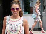 09.JULY.2015 - BIRMINGHAM - UK *** EXCLUSIVE ALL ROUND PICTURES - STRICTLY AVAILABLE FOR UK NEWS PAPERS ONLY *** ENGLISH GLAMOUR MODEL NOW DEVOTED MUM DANIELLE LLOYD WAS SPOTTED LEAVING A RESTAURANT IN BIRMINGHAM AFTER HAVING LUNCH. DANIELLE CHOSE TO WEAR A COLOURFUL SUMMER DRESS. BYLINE MUST READ : XPOSUREPHOTOS.COM ***UK CLIENTS - PICTURES CONTAINING CHILDREN PLEASE PIXELATE FACE PRIOR TO PUBLICATION *** **UK CLIENTS MUST CALL PRIOR TO TV OR ONLINE USAGE PLEASE TELEPHONE 0208 344 2007**