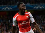Arsenal's Danny Welbeck celebrates scoring his side's fourth goal to complete his hat-trick during the UEFA Champions League match versus Galatasaray at The Emirates Stadium, London. PRESS ASSOCIATION Photo. Picture date: Wednesday October 1, 2014, See PA story SOCCER Arsenal. Photo credit should read: Andrew Matthews/PA Wire.