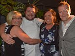 Nine Network's The Hotplate launches at Estelle. Judges Scott Pickett and Tom Parker Bowles share a laugh with Victoria's contestants Loz and Nols