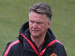 MANCHESTER, ENGLAND - MAY 08:  (EXCLUSIVE COVERAGE) Manager Louis van Gaal of Manchester United in action during a first team training session at Aon Training Complex on May 8, 2015 in Manchester, England.  (Photo by John Peters/Man Utd via Getty Images)