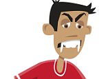 """Football star Luis Suarez has inspired this vampire character in a children's book. The Uruguay-born player - infamous for his on-pitch biting incidents - prompted British author Peter Barron to dream up a soccer loving vampire with fangs, called Luis. The character appears in his latest book, Daydreaming Daisy McCloud out now, illustrated by Paul Wick. Set in a monster school, it is the most recent installment in the Monstrous Morals series, published by ProActif. Author Peter told a British newspaper: """"I just hope he sees the funny side of it."""" Barcelona player Suarez, 28, most recently hit headlines last year when he bit Italy defender Giorgio Chiellini during the World Cup - the third time he had struck on the football pitch. *Please credit Splash/Peter Barron/Paul Wick*   Pictured: Luis Suarez inspired character, Luis Ref: SPL1072844  070715   Picture by: Splash/Peter Barron/Paul Wick  Splash News and Pictures Los Angeles: 310-821-2666 N"""