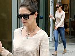 Actress Katie Holmes, wearing jeans, a brown sweater and suede ankle boots, runs errands in New York City on July 9, 2015.\n\nPictured: Katie Holmes\nRef: SPL1074363  090715  \nPicture by: Christopher Peterson/Splash News\n\nSplash News and Pictures\nLos Angeles: 310-821-2666\nNew York: 212-619-2666\nLondon: 870-934-2666\nphotodesk@splashnews.com\n