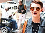 """Picture Shows: Ruby Rose  July 09, 2015\n \n """"Orange Is The New Black"""" actress Ruby Rose goes shopping on July 9, 2015 in Beverly Hills, California. Like a jukebox hero, The 29-year-old model/DJ's, who's career has skyrocketed since joining the hit Netflix show this season, seems to have a bright future ahead of her!  But she showed she still has a sense of compassion, as she gave one of her recently purchased juices to a homeless man.\n \n Non-Exclusive\n UK RIGHTS ONLY\n \n Pictures by : FameFlynet UK © 2015\n Tel : +44 (0)20 3551 5049\n Email : info@fameflynet.uk.com"""