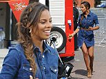 9 Jul 2015 - MANCHESTER - UK  ROCHELLE HUMES AND MELVIN ODOOM FILMING FOR THE XTRA FACTOR IN MANCHESTER   BYLINE MUST READ : XPOSUREPHOTOS.COM  ***UK CLIENTS - PICTURES CONTAINING CHILDREN PLEASE PIXELATE FACE PRIOR TO PUBLICATION ***  **UK CLIENTS MUST CALL PRIOR TO TV OR ONLINE USAGE PLEASE TELEPHONE   44 208 344 2007 **