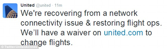 Update: The airline later took to Twitter to inform customers that it was restoring its flight operations