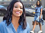 NEW YORK, NY - JULY 09:  Gabrielle Union is seen in the Meatpacking District  on July 9, 2015 in New York City.  (Photo by Alo Ceballos/GC Images)