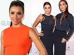 EDITORIAL USE ONLY - NO MERCHANDISING\nMandatory Credit: Photo by JABPromotions/REX Shutterstock (3384292dh)\nEva Longoria and Victoria Beckham\nThe Global Gift Gala at ME Hotel, London, Britain - 19 Nov 2013\n\n