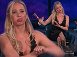 "San Diego CA: July 10, 2015-¿The Conan O¿Brien Show¿ Jennifer Lawrence, Josh Hutcherson & Liam Hemsworth, all of the film ""The Hunger Games: Mockingjay - Part 2.""  From Comic-Con in San Diego"