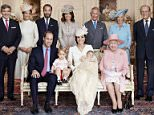 Terms of release, which must be included and passed-on to anyone to whom this image is supplied: For use in perpetuity in UK and Realm Nations. USE AFTER 10/10/2015 elsewhere must be cleared by Art Partner. This photograph is for editorial use only. NO commercial use.  NO use in calendars, books or supplements. Use on a cover, or for any other purpose, will require approval from Art Partner and the Kensington Palace Press Office. There is no charge for the supply, release or publication of this official photograph. This photograph must not be digitally enhanced, manipulated or modified and must be used substantially uncropped. Picture must be credited: copyright Mario Testino /Art Partner.  The Duke and Duchess of Cambridge with their children, Prince George, and Princess Charlotte, who was christened at Sandringham on Sunday July 5, 2015.  They are pictured in the Drawing Room of Sandringham House with Queen Elizabeth II (seated right) and (standing, from left), Michael Middleton, Pi