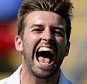 CARDIFF, WALES - JULY 09:  Mark Wood of England celebrates dismissing Chris Rogers of Australia during day two of the 1st Investec Ashes Test match between England and Australia at SWALEC Stadium on July 9, 2015 in Cardiff, United Kingdom.  (Photo by Gareth Copley/Getty Images)