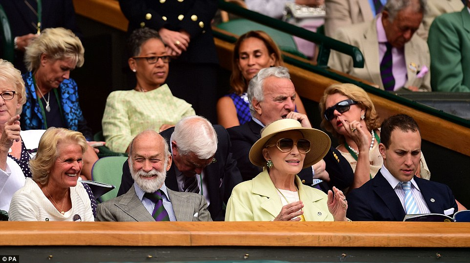 Royal flush: Also sitting in the Royal Box were Prince and Princess Michael of Kent and Lord Frederick Windsor (right)