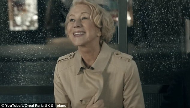 The TV campaign featured The Queen star, who turns 70 later this month, being offered a seat at a bus stop on a dark, wet night