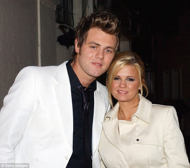 Lost love:Atomic Kitten's Kerry was first famously married to fellow pop band member Brian McFadden (here in March 2004), who was at the time a member of Westlife but it ended after four years and two children in 2006