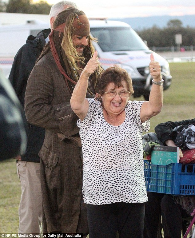 Mr Depp met his Australian fans on the last day of filming at the Spit at Southport on the Gold Coast
