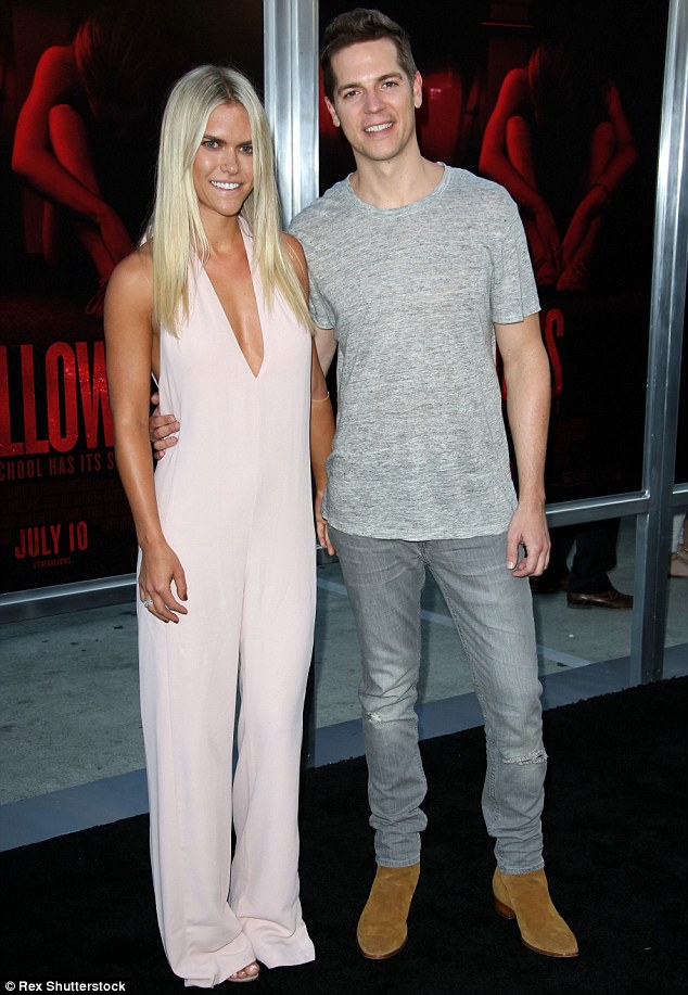Newlywed bliss: Lauren Scruggs-Kennedy and husband Jason Kennedy attended The Gallows premiere in Los Angeles on Tuesday