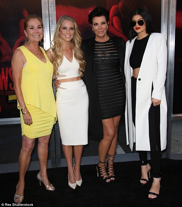 Mother-daughter love: Kathie Lee Gifford, Cassidy Gifford, Kris and Kylie all posed for a snap together at the event