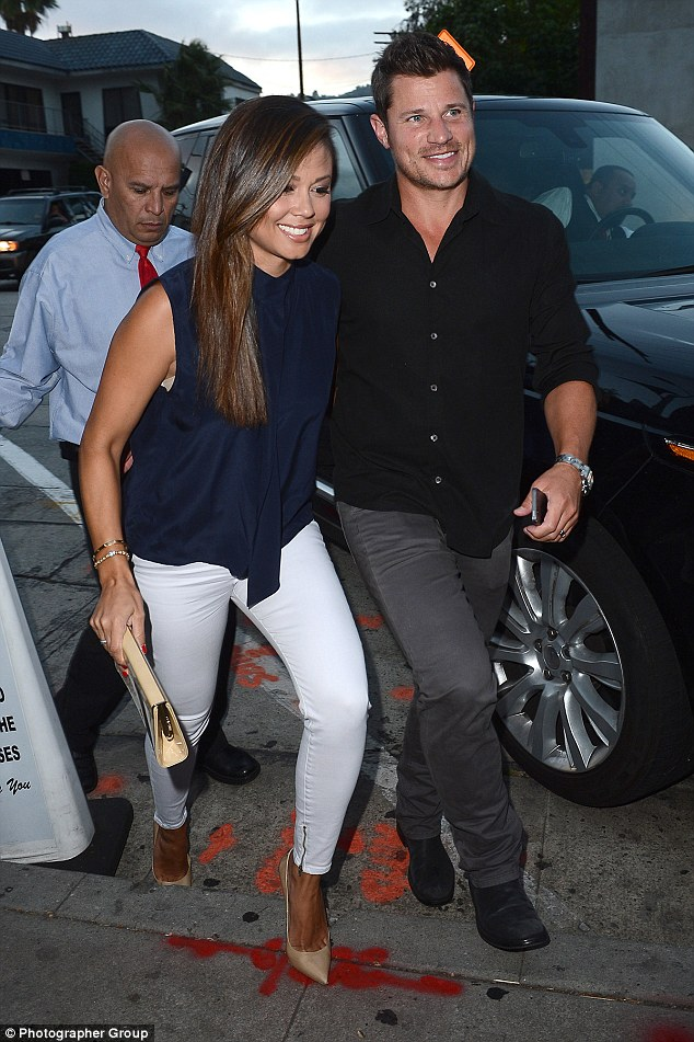 Parents only! Nick and Vanessa Lachey took a break from parenthood to enjoy a date night on Tuesday at Craig's in West Hollywood