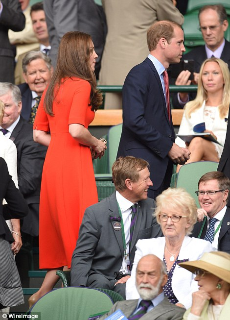 Here they come! William and Kate's appearance on court comes a week after a memorable visit from the Duchess of Cornwall