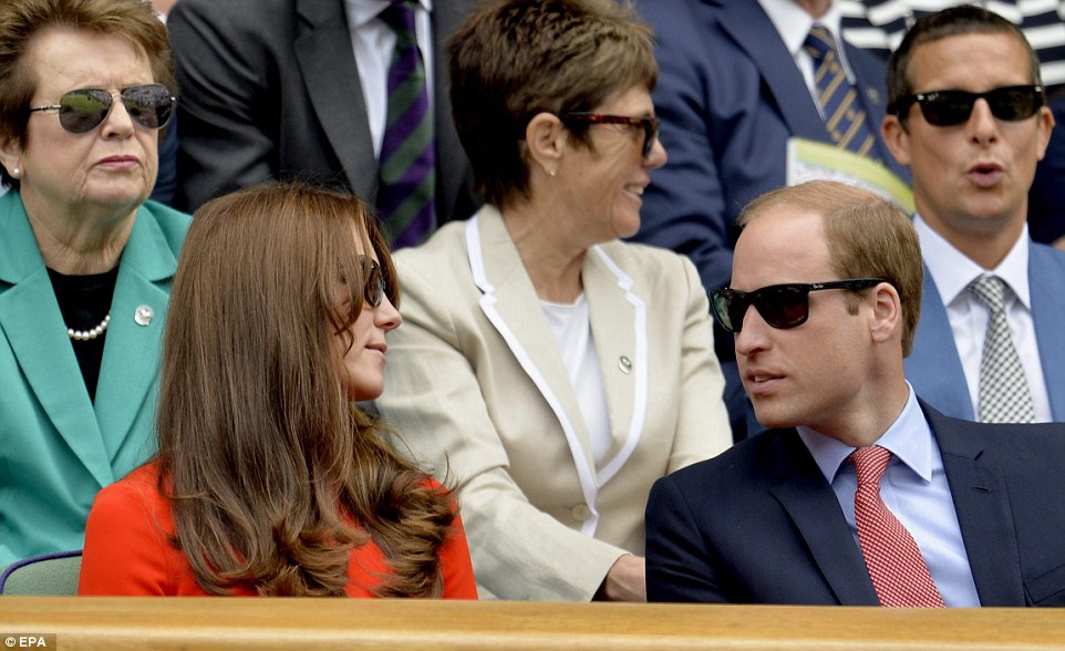 Nice sunglasses! Kate and William wore matching Ray Ban sunglasses at the match