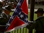 The Confederate battle flag to be removed from in front of the South Carolina Statehouse, Friday, July 10, 2015, in Columbia, S.C. South Carolina Gov. Nikki Haley signed a bill into law Thursday requiring the flag to be removed.