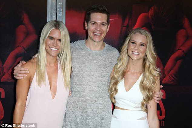 Three's a crowd: Lauren, 26, Jason and Cassidy seemed like they were having a blast together