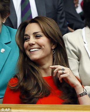 Kate looked thrilled to be back on centre court